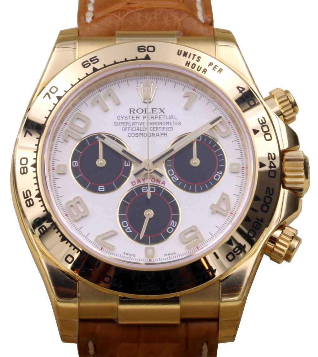 rolex daytona gold panda dial new 2018 ref 116518 sold. Black Bedroom Furniture Sets. Home Design Ideas