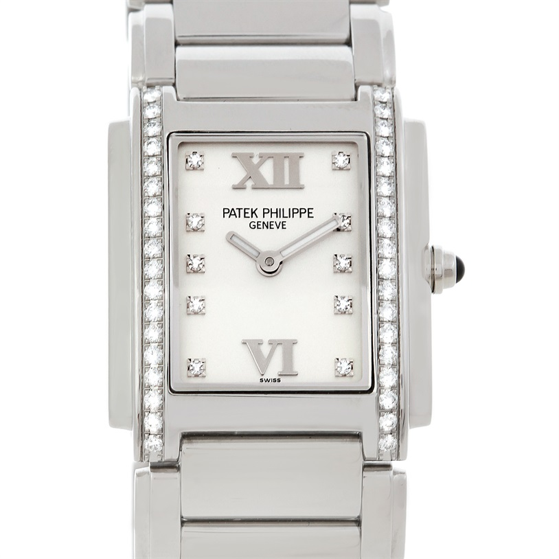 e9a51bf52c2 Patek Philippe Twenty 4 Steel w  Diamonds 4910 10A SOLD – Lucas Relogios